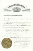 Hiram Warren Johnson - Civil Appointment Signed 04/04/1914 With Co-signers