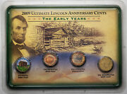 2009 Ultimate Lincoln Anniversary Cents The Early Years 4 Coin Set Monster Toned