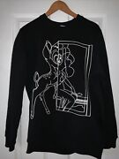 Auth Givenchy Bambi Long Crewneck Sweatshirt Cotton Blend Very Soft And Heavy S