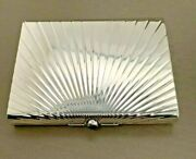 Authentic Vintage Sterling Silver Compact Case 159g
