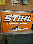 Dealer Stihl Chainsaws Chain Saw Farm Tool Gas Oil 6 Ft X 4 Ft Lighted Sign
