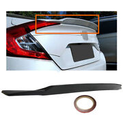 Lower Duckbill Rear Trunk Wing Spoiler Lip For 2016-2020 Honda Civic 4dr Black