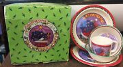 Mary Engelbreit Melamine Extra Bowl And Platebaby's First Dishes 5 Pieces 1994