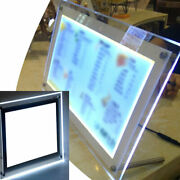 Desk Top Fit For A4 A3 A5 Crystal Light Box Thin Restaurant Stand Menu Holder