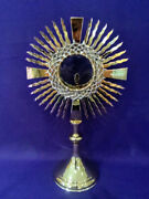 Catholic Monstrance Church Metalware Ostensory Crown Of Thorns Gold Plated