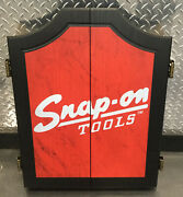 New Snap-on Tools Collectors Garage Wooden Wall Hanging Dart Board Cabinet 25
