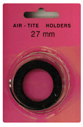 Air Tite 27mm Black Ring 1/2 Gold Eagle/1/2 Oz Gold Sovereign Coin Capsule 1