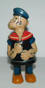 Neat Vintage Chein Toy Tin Wind Up Popeye Walking Toy - Works Great