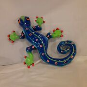 Four Large Paper Mache Fish And Lizard Wall Hangings