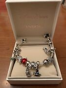 9 Inch Disney Pandora Bracelet Loaded With Iconic Charms