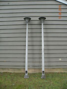 Mcm Vintage Pfaff And Kendall 9and039 Outdoor Lightpoles With Holophane Lens