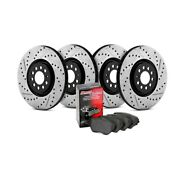 For Volkswagen Jetta 11-16 Brake Kit Street Drilled And Slotted 1-piece Front And