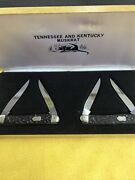 Winchester Tennessee And Kentucky Muskrat Knife Set Made In Germany