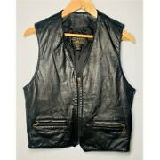 Compagnie Vintage 90and039s Womenand039s Black Leather Vest Size S