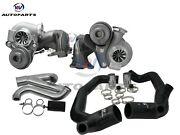 Upgraded Td04-19t Twin Turbocharger+2 Inlet Outlet Pipes For 335i Lhd 3.0l N54