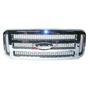 New Grille Made Of Abs Plastic Fits 05-07 Ford F-250 Super Duty 5c3z8200baa Capa
