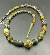 Old Antique Ancient Millefiori Glass Beads From Ancient Roman's