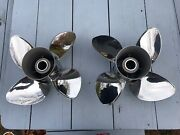 Michigan Wheel Apollo Stainless Propellers 4-blade 14 5/8 X 16 Pitch Lh And Rh