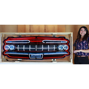 Chevy Impala Neon Sign In Solid Steel Can Dads Garage Ss Wall Lamp Light 1959