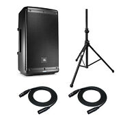 Jbl Eon610 10 Two Way Pa System With On Stage Speaker Stand And Xlr Cables