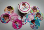 12 Doc Mcstuffins Edible Paper, Cupcake Cookie Toppers