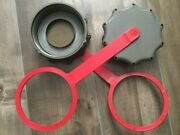 Lot 2 New Military Scepter Can Cap Olive Drab Fuel Gas Mfc Red Strap Gas Viton.