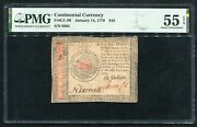 Cc-96 January 14 1779 45 Dollars Continental Currency Note Pmg Au-55epq