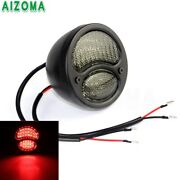Black Motorcycle Led Brake Taillght For Harley Ford 28-31 Model A Hot Rat Rods