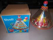 Vintage Tivoli Toy Pump Spinning Top, Plastic And Metal, Made In Western Germany