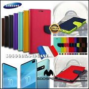 Case Cover Leather Pu Leather Mercury Shell Samsung Galaxy S10 S10e S10+ Plus