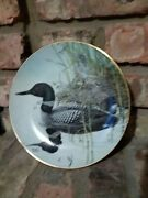 M Glen Loates Signed Duck Collectors Plate. Canada