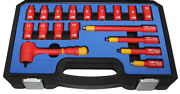 Metric 1/4drive Vde Insulated Socket Set 18 Piece Tande Tools Is218
