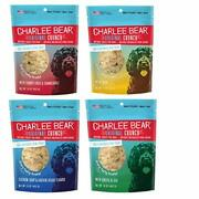 Charlee Bear Dog Treats Variety Pack Includes Liver Egg Cheese Chicken 4 Pack