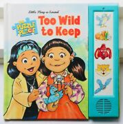 The Puzzle Place Too Wild To Keep Little Play-a-sound Book 1994 Extremely Rare