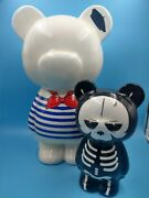Bundle Of 2 Figurines Crazy Art Factory Bear Skull And Grand Sailor Be Occasion