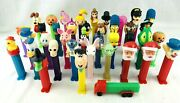 Lot 39 Vintage 70andrsquos/90andrsquos Pez Dispensers Collectible Candy Toys Star Wars Disney