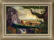 Thomas Kinkade Studios Lion King Return To Pride Rock 24 X 36 Le G/p Canvas