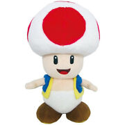 Little Buddy Super Mario Bros Red Toad Stuffed Plush All Star Collection 1417