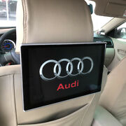 Car Tv Headrest Monitor Android 9.0 Rear Seat Entertainment Os For Audi Set Logo