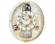 Seiko Wall Clock Mickey And Friends Disney Time White Marble 12songs Fw580w Japan