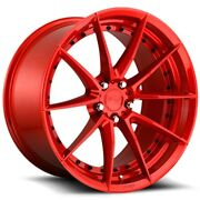 Set Of Four Niche Wheels M213 Sector 20x10.5 5x114.3 +40 Gloss Red