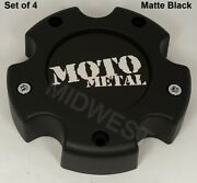 4 New 845l1451s2 Matte Black Moto Metal 5 Lug 5x139.7 5x5.5 Wheel Center Caps