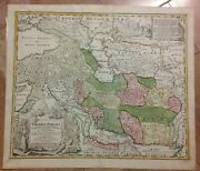 Empire Of Persia 1720 Jb Homann Large Antique Copper Engraved Map 18th Century