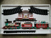 Vintage 1986 New Bright Musical Animated Christmas Logger Bears Express Train.