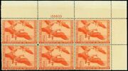 Us. Rw11 Federal Duck Stamp Plate Block Of 6 - Ognh - Xf Cv 750.00 Esp88-11