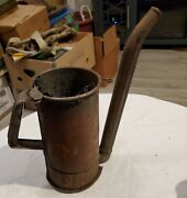 Antique Rare Oil Pitcher,huffman Mfg Co,dayton,14 Adj Spout.oil Can Goes Inside