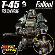 Threezero T-45 Power Armor Ncr Salvaged Fallout 1/6 Collection Figures