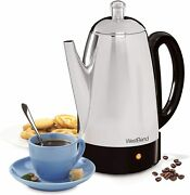 Kitchen West Bend 54159 Classic Stainless Steel Electric Coffee Percolator With