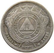 Honduras 50 Centavos 1885 Date 8 Repunched Coin Rotation T90 499