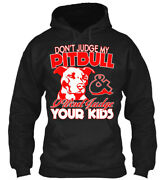 Teespring Gioi Dont Judge My Pitbull - Best Seller Classic Pullover Hoodie
